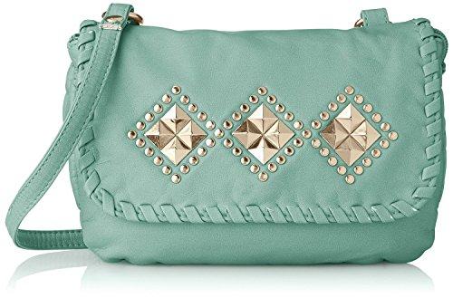 womens-washed-with-studded-flap-diamond-design-studs-crossbody-handbag-purse-mint-one-size