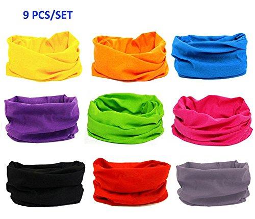 KALILY-9PCS6PCS-Headband-Bandana-Versatile-16-in-1-Sports-Casual-Headwear-Neck-Gaiter-Balaclava-Helmet-Liner-Face-Mask-for-ATVUTV-riding-Seamless-Lightweight-Headband-with-UV-Protection