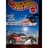 Hot Wheels 1997 First Editions Red Saltflat Racer #520 - 4 Of 12 On Coolest To Collect Card