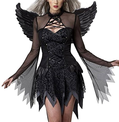 ZUIS Women's Sexy Two Piece Vampire Dress Halloween Cosplay Costume
