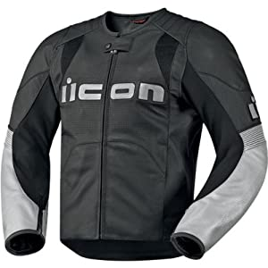 Icon Overlord Leather Jacket - X-Large/Black