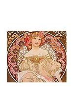 ARTE E TESSUTI by MANIFATTURE COTONIERE Panel Decorativo Mucha-Reverie Marrón/Multicolor
