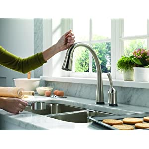 kitchen touch activated water faucets