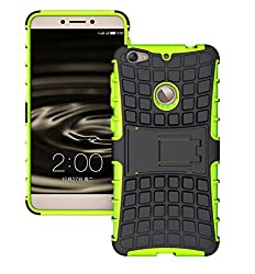 Plus Shock Proof Protective Rugged Armor Super Hybrid Heavy Duty Back Case Cover For Letv Le 1S / LeEco Le 1s (Eco) - Great Green