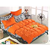 WRAP 100% PREMIUM QUALITY REVERSIBLE DOUBLE BED 4PC COMFORTER SET SMC-16