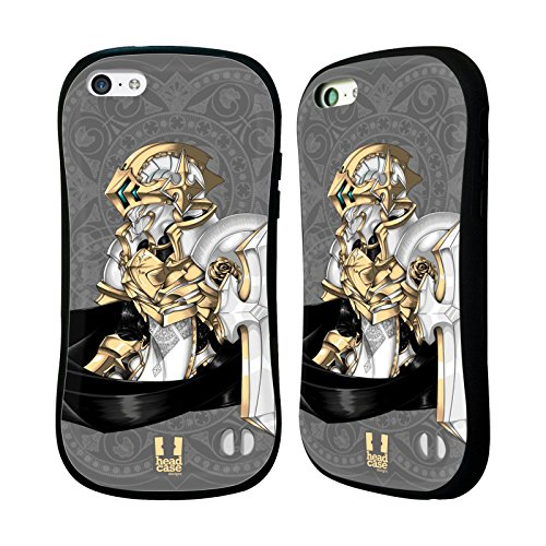 Head Case Designs Astral Knights Hybrid Gel Back Case for Apple iPhone 5c