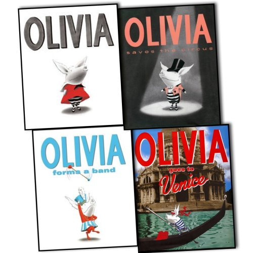Ian Falconer Olivia 4 Books Collection Pack Set RRP: £34.96 (Olivia Goes to Venice(Hardback), Olivia Saves the Circus, Olivia Forms a Band, Olivia [Book + CD])