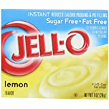 Jell-O Sugar-Free Instant Pudding & Pie Filling, Lemon, 1-Ounce Boxes (Pack of 24) ~ Jell-O