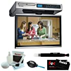 Venturer (KLV3915) 15.4-Inch Undercabinet Kitchen LCD TV/DVD Combo with Focus Accessory Bundle