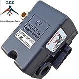 Heavy Duty Air Pressure Control Switch, Sunny L4, 4 port, 95-125 PSI, 25 Amp (Color: Black)