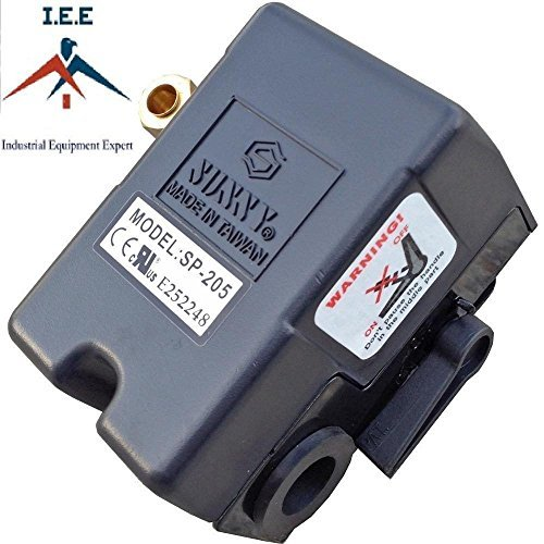 Heavy Duty Air Pressure Control Switch, Sunny H4, 4 port, 140-175 PSI, 25 Amp (Pressure Switch 175 compare prices)