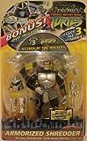 "Teenage Mutant Ninja Turtles Enemies Armorized Shredder Action Figure 2005 Release with ""Attack of the Mousers"" Bonus DVD"