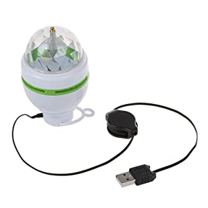 Docooler? 3W LED Portable Stage DJ Light Auto Rotating Bulb with USB Interface