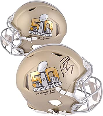 Peyton Manning Denver Broncos Autographed Riddell Super Bowl 50 Pro Line Authentic Helmet - Fanatics Authentic Certified