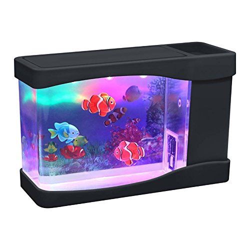 Lightahead® Artificial Aquarium Fish Tank Multi Color LED Swimming Fish Tank with Bubbles (Moving Fish compare prices)