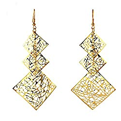 Sorella'z Bohemian Long Golden Earrings for Women's (Pair of 2)