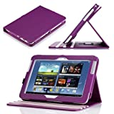 Poetic Dura Book Multi Angle Folio Cover Case for The Samsung Galaxy Note 10.1 Purple/White (Landscape / Portrait View)(Included 2 Micro SD Card Slots) (3 Year Manufacturer Warranty From Poetic)by Poetic