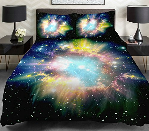 Anlye The Gift For Boyfriend Daybed Bedding Set 2 Sides Printing Nebula Quilt Duvet Covers Nebula Flat Sheet With 2 Nebula Outdoor Pillow Covers Full front-1003130