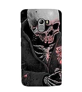 Printvisa Skeleton Wearing A Coat In Moonlight Back Case Cover for LG G2::LG G2 D800 D980