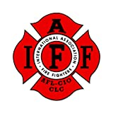 Firefighter IAFF Fire Fighters Car Sticker Decal 5""