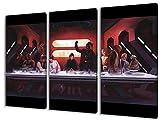 Star Wars, 3-teiliges Leinwandbild (120cm x 80cm),...