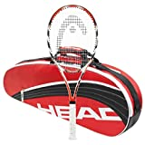 Head Microgel Radical MidPlus and 3 Racquet Red and Black Bag by HEAD