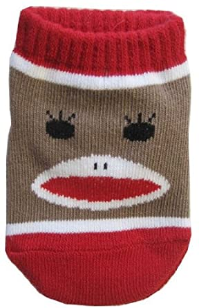 Baby Infant Sock Monkey Ankle Socks