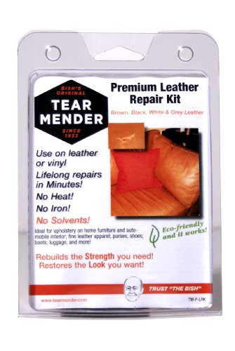 Review Tear Mender TM-P-LRK Bish's Original Tear Mender Premium Leather Repair Kit with Patches and ...
