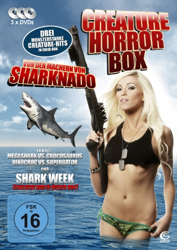 Die Creature Horror Box - Boxset mit 3 Creature-Horrorfilmen: Megashark VS Crocosaurus, Dinocroc VS Supergator, Shark Week (3 DVDs, exklusiv bei Amazon.de)