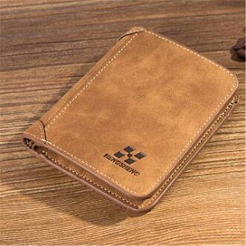 New Mens Leather Wallets,Charminer Men's Money Bilfold Wallet Card Holder Purse Clutch Purse