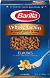 Barilla Whole Grain Elbow Pasta, 13.25 Ounce Boxes (Pack of 16)