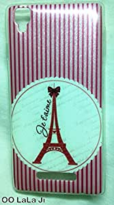 Premium Soft Fancy Back Cover For Panasonic Eluga A2 Pink Tower Design