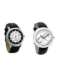 Gledati Men's Black Dial And Foster's Women's White Dial Analog Watch Combo_ADCOMB0001845