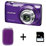 Fujifilm FinePix JZ100 Purple + Case and 4GB Memory Card (14MP, 8x Optical Zoom) 2.7 inch LCD Screen