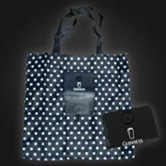 Guinness Black White Spot Fold Shopper Bag