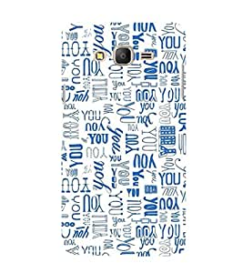 ifasho You letter pattern Back Case Cover for Samsung Galaxy On7 Pro
