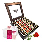 Love Treasure Chocolates With Rose And Love Card - Chocholik Belgium Chocolates