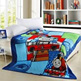 Brand New Blue Thomas Train Blanket Hot Sale Cartoon Coral Fleece Soft Blankets 150cmx200cm