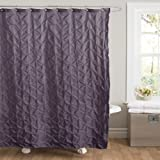 Lush Decor Lake Como Shower Curtain, 72 by 72-Inch, Purple