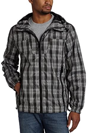 Sean John Men's Plaid Windbreaker, Pm Black, Large at Amazon Men's Clothing store: Outerwear