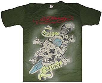 Men's Ed Hardy by Christian Audigier T-Shirt Death or Glory Available in Several Sizes (XL)