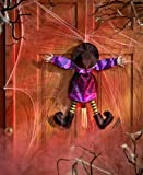 Halloween Door Hanger Sound & Motion Crashing Witch Hanging Party Decorations
