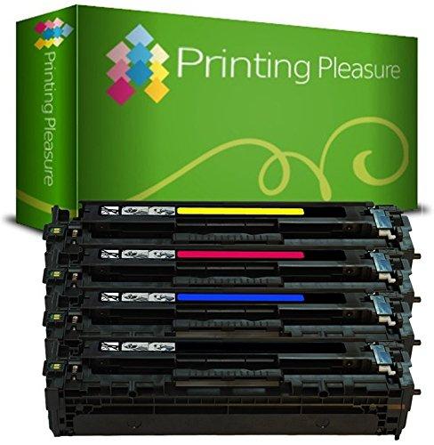Printing Pleasure, Cartuccia Laser Per Hp Color Laserjet Pro Mfp M277Dw, Mfp M277N, M252Dw, M252N, Set Di 4 Pezzi, Nero/Ciano/Magenta/Giallo