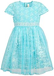 Euphoria Girls' A-line Frock (303F_4-5 Years, Blue, 4-5 Years)