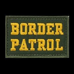 RapDom T91-BOR-OLV Border Patrol Canvas Patch, Olive