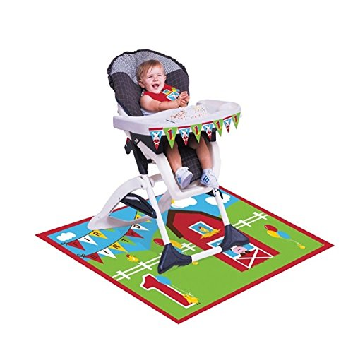Creative Converting Farmhouse Fun High Chair Birthday Decoration Kit