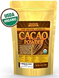 Organic Raw Cacao/ Cocoa Powder - Best 100% Dark Chocolate Taste - Pure Unsweetened, Non-Alkalized, Gluten Free, Vegan & Fair Trade Certified 1lb/ 16oz Bulk