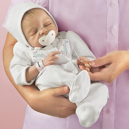 Ashton Drake Sleeping Beauty Doll: Denise Farmer Cherish Collectible Lifelike Vinyl Baby Doll