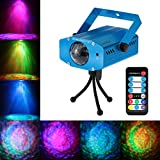 Lixada 10W Farbwechsel Mini LED Wasser Wave Ripple Effect Bühne Licht Lampe mit Controller für Disco KTV Club Party