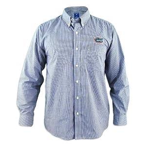 Florida Gators Focus Blue Buttondown Long Sleeve Shirt by Antigua